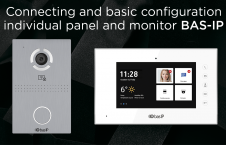 Connecting and basic configuration individual panel and monitor BAS-IP